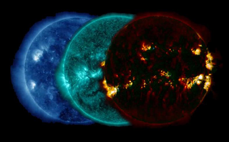 SDO filtered sun video